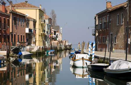 murano:  Venice - houses by canal - Murano island