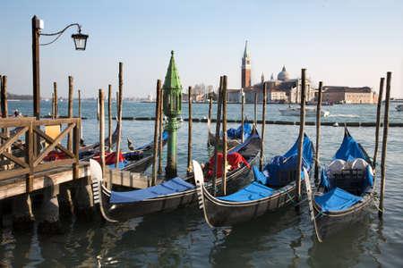 Venice - gondolas and San Giorgio di Magiore church  Stock Photo - 9697381