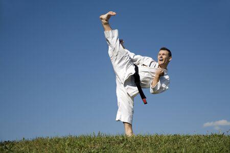 kick of world master in karate