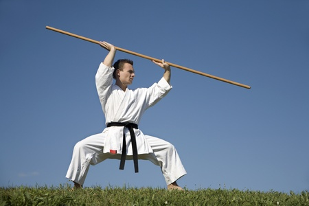 kata:  world champion - karate - kata - training  Stock Photo