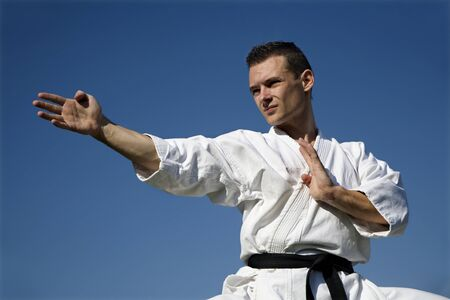 world champion - karate - kata - training  Stock Photo