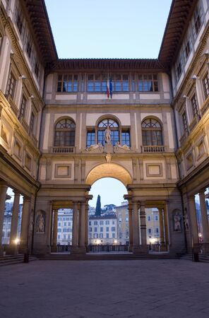Florence - Uffizi gallery in morning
