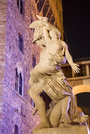 pio:  Florece - Neoptolemus holds Polyxena by Pio Fedi, Loggia dei Lanzi, Florence, Italy