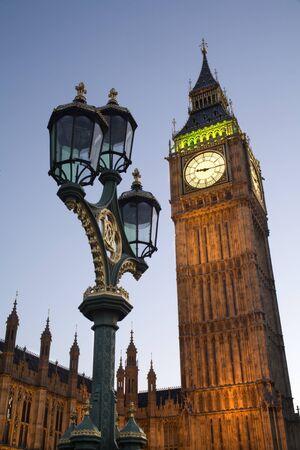 ondon:  London - parliament - Big Ben in evening