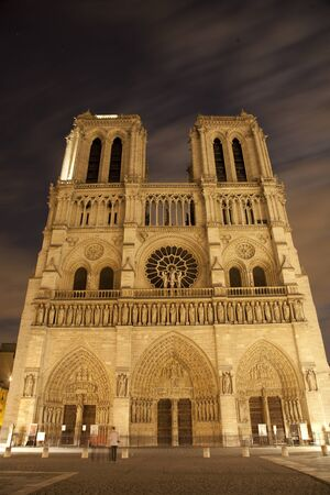 Paris - Notre-Dame cathedral in the night  Stock Photo - 11786101