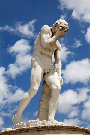 statuary garden: Paris - Cain statue by Henri Vidal from Tuileries garden