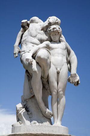 statuary garden: Paris - Le Serment de Spartacus by Barrias (1869) THE OATH OF SPARTACUS - Tuileries garden