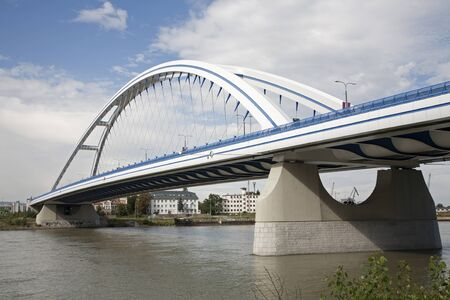 bridge construction:  Bratislava - Apollo new arched bridge