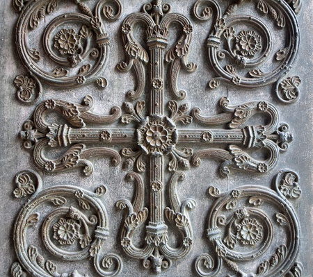 Paris - detail of gate of Saint Denis - first gothic cathedral Stock Photo - 11798737