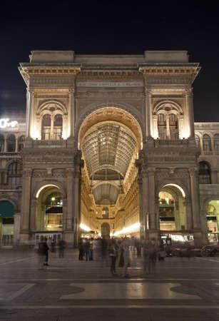 vittorio emanuele:  Milan - Vittorio Emanuele galleria in evening - exterior