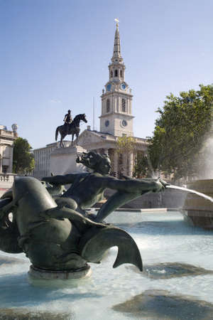 London - fountain on the Trafalgar square  Stock Photo - 11798708