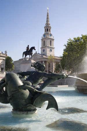 London - fountain on the Trafalgar square Stock Photo - 11798708