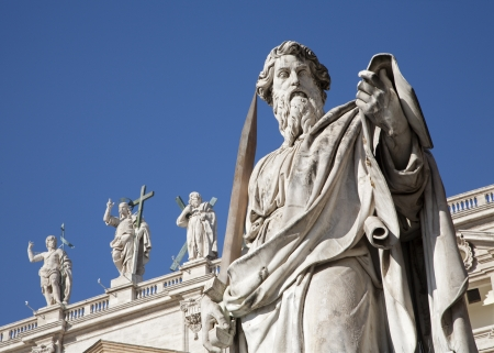 christendom: Rome - st  Paul s satatue for st  Peter s basilica