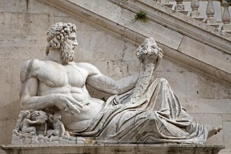 tiber: Rome - statue of Tiber for Palazzo Senatorio