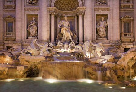 Rome - Fontana di Trevi in evening photo