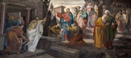 Milano - risurrezione di Lazzaro dalla chiesa di San Giorgio Archivio Fotografico - 14987225