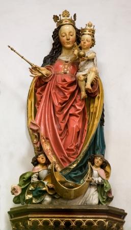 saint mary:  Holy Mary - Banska Stiavnica - st  Katherine gothic church  Stock Photo