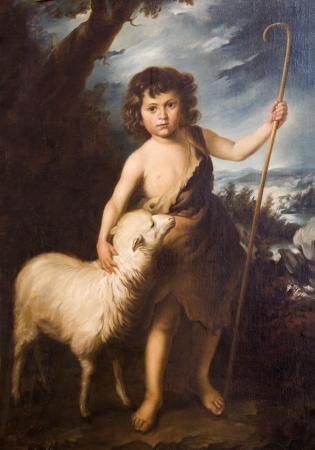 Niño Jesús de Murillo - copia de St Katharine iglesia en Banska Stiavnica