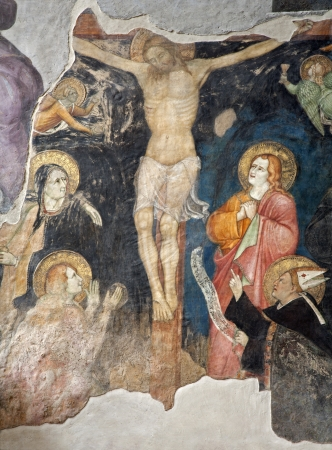 Milan - crucifiction fresco from San Marco church - anonymous painter