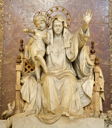 Rome - statue of Mother of Jesus from Santa Maria Maggiore basilica
