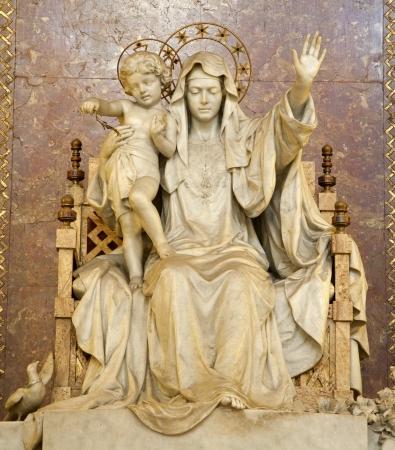 Rome - statue of Mother of Jesus from Santa Maria Maggiore basilica