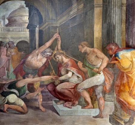 corona de espinas: Roma - coronación de espinas de Cristo de Santa Prassede iglesia Editorial