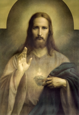 religiosity: heart of Jesus Christ - typical catholic image