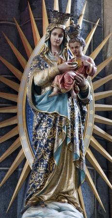 GENT - JUNE 23  Virgin Mary statue from Saint Jacob church on June 23, 2012 in Gent, Belgium