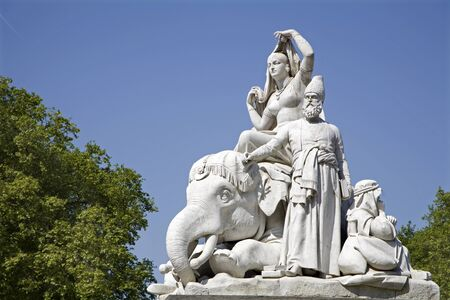 London - Asia sculpture from Prince Albert memorial - Hyde park  Stock Photo - 15133201