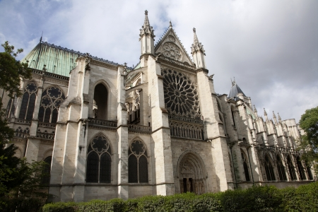 Paris - east portal of Saint Denis first gothic cathedral  Archivio Fotografico