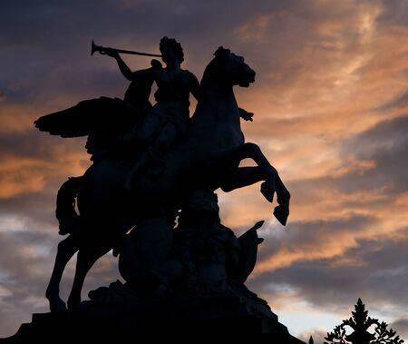 statuary garden:  Paris - statue of Renommee from Tuileries garden