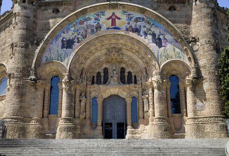 sagrat cor:  Barcelona - Sagrat Cor de Jesus - portal  Stock Photo
