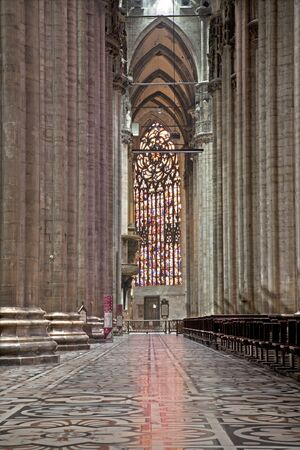Milan - side nave of Dom