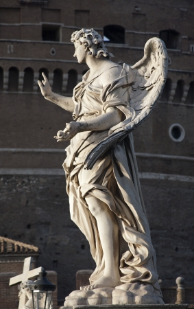 Rome - Ponte Sant Angelo, Angel with the Nails photo