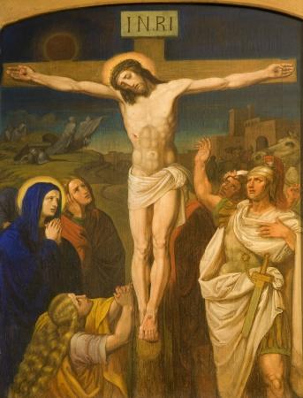 calvary:  Christ on the cross from Vienna chruch Kirche am Hof
