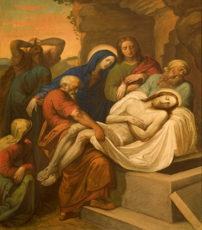 tomb:  Burial of Christ from Vienna chruch Kirche am Hof
