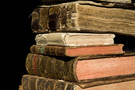 attrition:  detail of old books