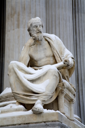 Vienna - philosopher statue for the Parliament - Herodotus  photo
