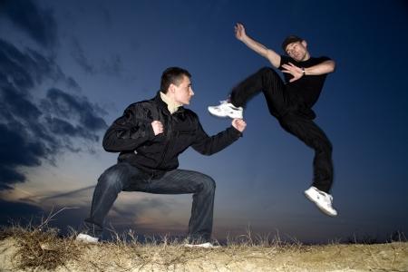 congruence: karate training in evening