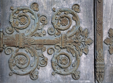 Paris - detail of gate of Saint Denis - first gothic cathedral