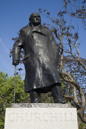 London - Winston Churchill statue by parliament  Stock Photo - 15647518
