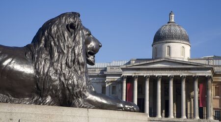 London - lion from Nelson memorial on Trafalgar square  Stock Photo - 15620480