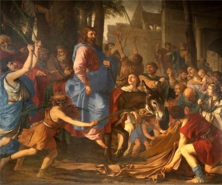 Ingresso di Gesù in Gerusalemme - Parigi - Saint-Germain-des-Prés Archivio Fotografico - 15583881