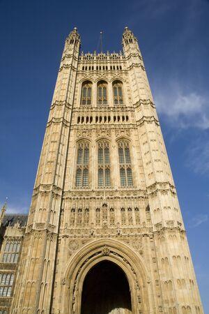 ondon:  London - tower of parliament  Stock Photo