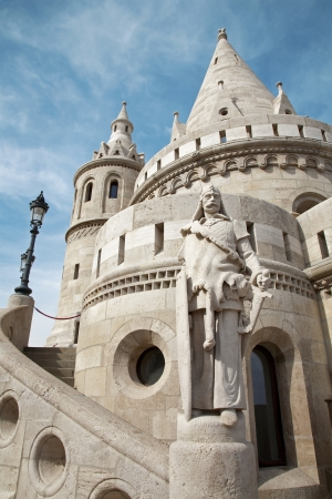 fisherman bastion:  Budapest - statue and Fisherman s Bastion