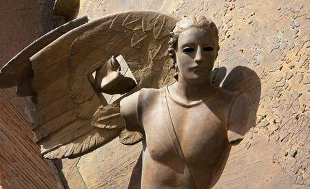 martiri: ROME - MARCH 20  Detail of angel from gate of basilica Santa Maria degli Angeli e dei Martiri by sculptor Igor Mitoraj on March 20, 2012 in Rome