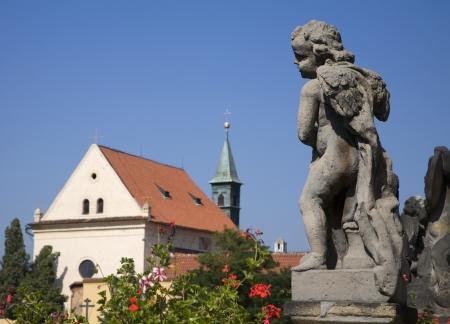 notability: Prague - baroque angel by Loreto church