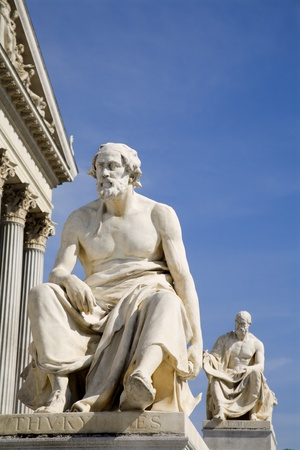 thucydides: Vienna - Thucydides philosopher statue for parliament