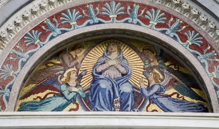holy mary:  Mosaic of holy Mary from Pisa cathedral