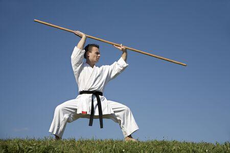 kata:  world champion - karate - kata - training  Stock Photo